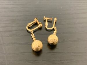 ブランド品&金・プラチナ買取マート豊田青木店で買取したK18イヤリング