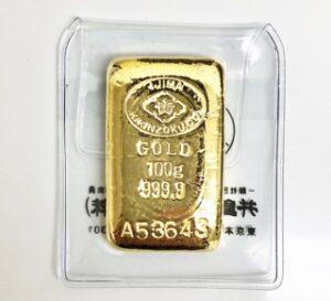 ブランド品&金・プラチナ買取マートで買取した金という貴金属のインゴット