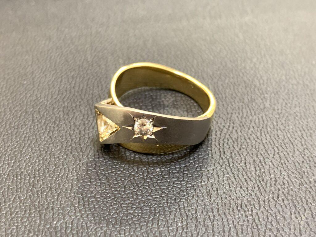 ブランド品&金・プラチナ買取マート岡崎店で買取した金とプラチナの指輪