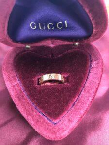 ブランド品&金・プラチナ買取マート豊田青木店で買取したグッチの金製の指輪
