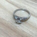 ブランド品&金・プラチナ買取マート岡崎店で買取した貴金属、プラチナ900ダイヤモンドリングです。