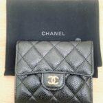 ブランド品&金・プラチナ買取マート碧南店で買取したシャネルというブランドの黒色の財布