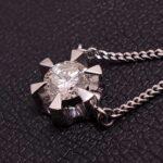 ブランド品&金・プラチナ買取マート豊明店で買取したPt850、プラチナ製のダイヤ付きネックレス