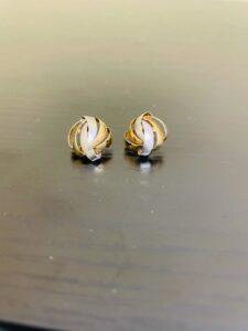 ブランド品&金・プラチナ買取マート豊田青木店で買取した18金プラチナ900のコンビイヤリング