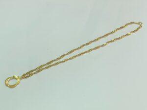 ブランド品&金・プラチナ買取マートパルネス前後豊明店で買取した18金製のデザインネックレス