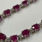 ブランド品&金・プラチナ買取マート豊田青木店で買取した貴金属、ルビー ダイヤモンドネックレスです