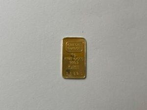 ブランド品&金・プラチナ買取マート豊田ギャザ店で買取した貴金属、24金スイスバンクインゴットです