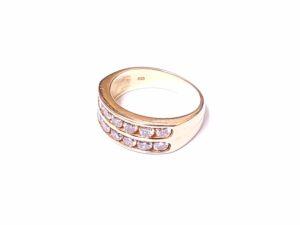 ブランド品&金・プラチナ買取マート岡崎店で買取したK18,18金製ダイヤモンド付きリング