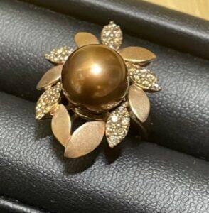 ブランド品&金・プラチナ買取マート豊田ギャザ店で買取した貴金属、18金ブラウンパールリングです