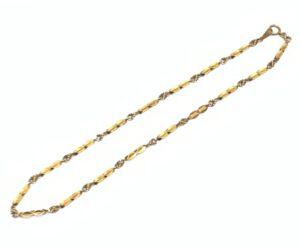 ブランド品&金・プラチナ買取マート碧南店で買取した18金で造られたデザインネックレス
