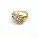 ブランド品&金・プラチナ買取マート碧南店で買取した18金製ダイヤモンド付きデザインリング