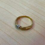 ブランド品&金・プラチナ買取マート豊明店で買取した貴金属、18金ダイヤモンドリング