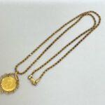 買取マート碧南店で買取した貴金属18金製ネックレスメイプルリーフ金貨付き